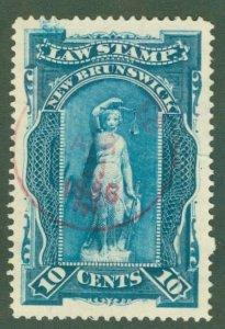 Rk1-0006 Canada New Brunswick Law Stamp  NBL1 used bin $1.50