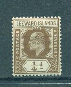 Leeward Islands sc# 41 mh cat value $3.00