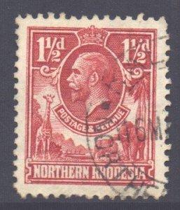 Northern Rhodesia Scott 3 - SG3, 1925 George V 1.1/2d used
