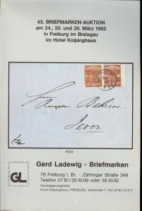 45. Briefmarken-Auktion, Gerd Ladewig  March 24-26, 1983