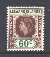 Leeward Is Scott 144 - SG137, 1954 Elizabeth II 60c MH*