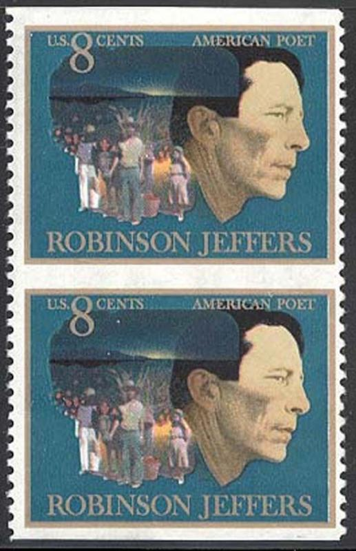 1485a, MNH IMPERFORATE PAIR ERROR - ROBINSON JEFFERS