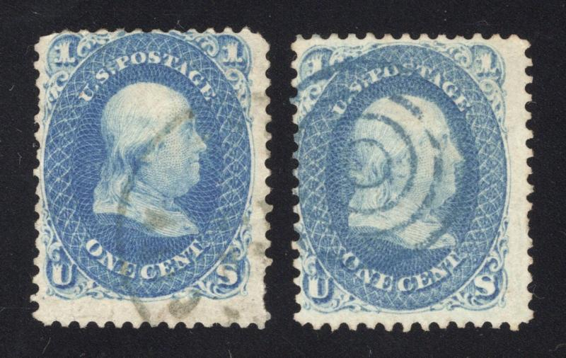 2 Different Shades of #63 - Light Town Cancel & Blue Bulls-Eye