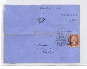 GB Scotland Cover Edinburgh ARABIC SCRIPT Seal Worth Researching 1872 CB16