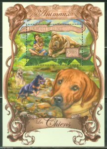 Guinea MNH S/S Dogs Animals 2013