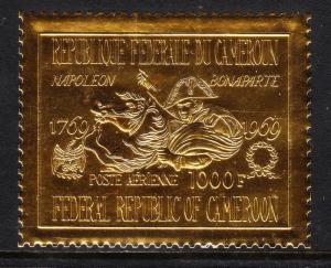 CAMEROUN — SCOTT C126 — 1969 NAPOLEON GOLD FOIL AIRMAIL — MNH — SCV $45.00