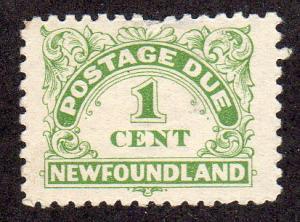Newfoundland J1a - Mint-H - Postage Due (cv $7.25)