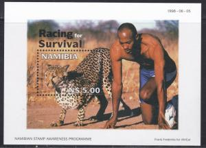 Namibia # 914, Leopard - Racing for Survival, NH, 1/2 Cat