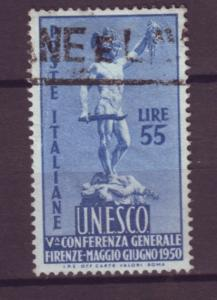 J21517 Jlstamps 1950 italy hv of set used #534 perseus