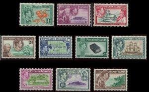 Pitcairn Islands 1940 Scott# 1-8 GVI 10 Stamp Set Mint LH