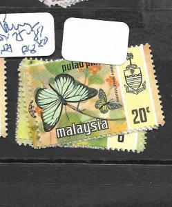 MALAYA   PENANG    (PP1007B)  BUTTERFLY  SG  75-81   MNH