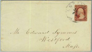 91294 - UNITED STATES USA - POSTAL HISTORY - EARLY Cover from LEXINGTON Mass.