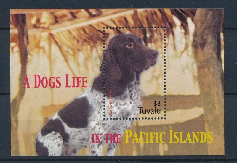 [27468] Tuvalu 2005 Animals Dogs Danish Pointer MNH Sheet
