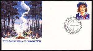 Australia - 75th Anniversary of Guiding pre-stamp Envelope