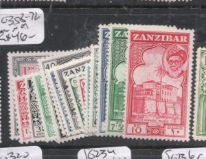 Zanzibar SG 358-72 MNH (9djs)