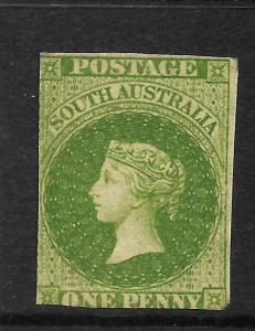 SOUTH AUSTRALIA 1856-58  1d   YELLOW GREEN  QV   MLH   SG 6