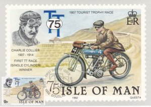 Isle of Man # 214-218, Motorcycle Races, Maxi Cards, First Day Cancels