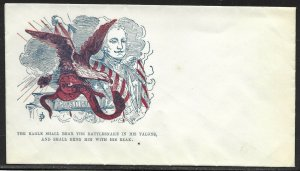 2 DIFF. EAGLE W/ FLAG PATRIOTIC COVERS BV3453