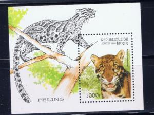 Benin PR 849 NH 1996 Wild Cats S/S
