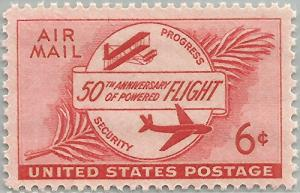 United States (U.S.) Stamp Scott #C-47, Mint Never Hinged MNH, 6 Cent 50th An...