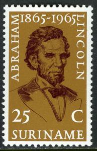 Surinam 316, mi 459, Postfrisch Abraham Lincoln, 1965