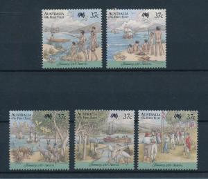 [74538] Australia 1988 Colonisation Birds Kangaroos Fishing  MNH