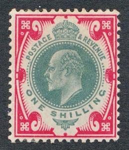 GREAT BRITAIN 138 MINT LH, 1 SHILLING KING EDWARD