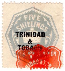 (I.B) Trinidad & Tobago Revenue : Duty Stamp 5/-