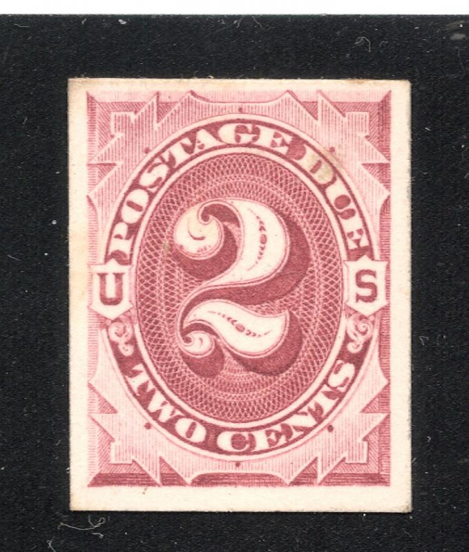 J23P4 Claret - 2 Cents Postage Due - Proof on Card
