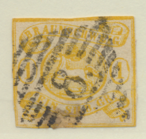 Brunswick (German State) Stamp Scott #16, Used, Cut Down - Free U.S. Shipping...