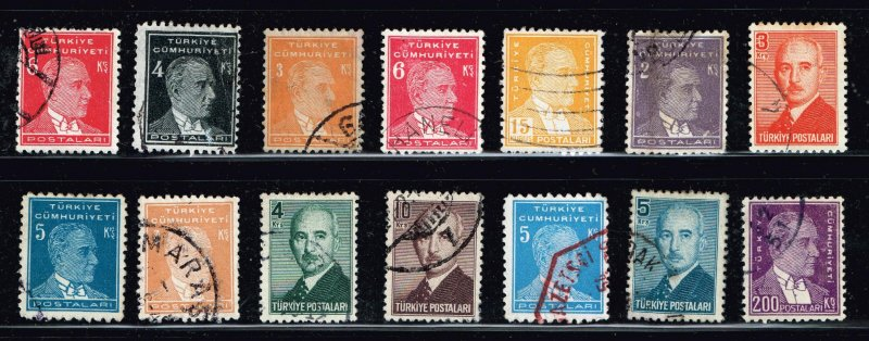 Turkey Stamp  USED S TAMPS COLLECTION LOT #3