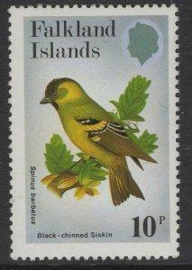 FALKLAND ISLANDS SG434w 1982 10p BIRDS WMK UPRIGHT MNH