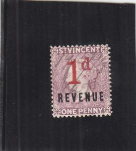 St. Vincent Revenue Tax Stamp, 1p, Sc #23 (24906)