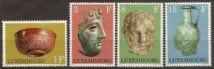LUXEMBOURG  508-11 MNH 1972 ARCHAEOLOGICAL OBJECTS