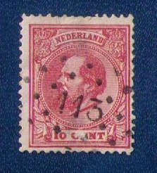 Netherlands Sc #24  Used 7-1/2c RED BROWN F-VF