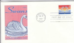 1997, Love-Swans, Artmaster, FDC (D14438)