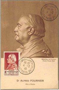 90064 - FRANCE - Postal History -  MAXIMUM CARD 1946 Alfred FOURNIER Medicine