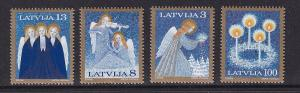 Latvia   #385-388   MNH  1994  Christmas