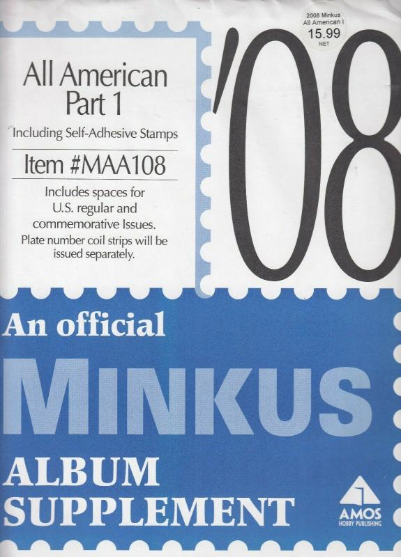 Minkus All American Part 1 2008 Supplement Brand New