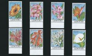 Lesotho - 1993 Tropical Flowers  8 Stamp Set 12E-010