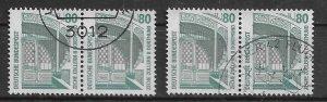 Germany PAIR  used 1987 Mi 1342