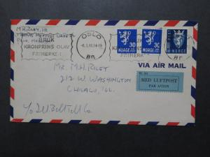 Norway 1946 Airmail Cover to USA - Z10049