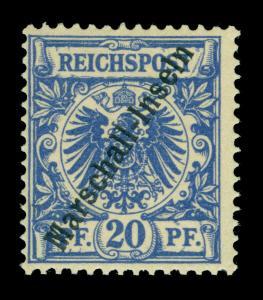 German Colonies MARSHALL ISLANDS 1897  20pf ultra - JALUIT - Sc# 4a (Mi 4I) MNH