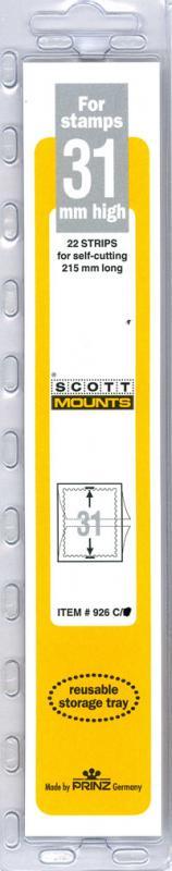 Scott Mounts Clear 31mm STRIP 215 ,(Pgk. 22) (00926C)