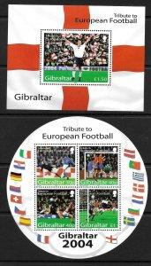 2004    GIBRALTAR  -  SG. MS 1087  -  EUROPEAN FOOTBALL   -  MNH