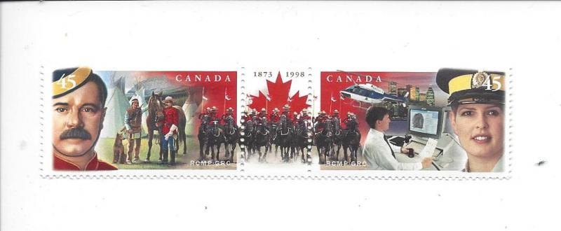 Canada 1737a 1998 125th Mounties pair MNH