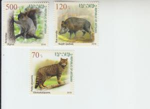 2018  Karabakh Fauna  3) (Scott NA) MNH