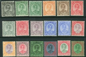 PAHANG-1935-41  A mounted mint set to $5 Sg 29-46