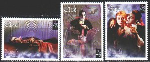 Ireland. 1997. 1026-28 from the series. Movie Characters, Dracula. MNH.