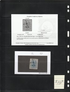 Persian stamp, Scott#150, used, Certified, green paper issue, excellent center,